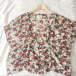 Sheer Rose Blouse